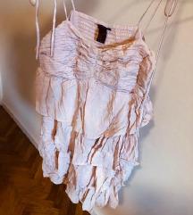 H&M lepršava roza haljina SMALL