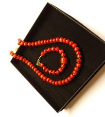 Ogrlica i Narukvica - Crveni Koralj