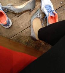 Shoebox srebrne cipele