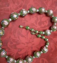 Ogrlica oslikan porculan vintage