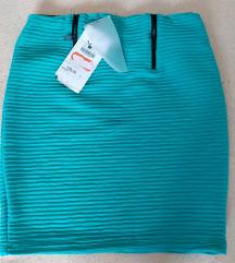 NOVO tirkizna uska suknja