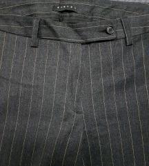 SISLEY  štof(vuna)široke hlače,  uklj.Tisak