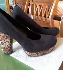Crne, leopard cipele