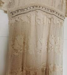 Zara čipkana maxi haljina L-XL