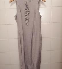 Siva haljina s volančićima - nova, nikad nošena!
