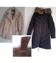 NAF NAF bunda + SISLEY jakna + PAUL GREEN čizme
