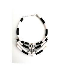 Crno bijela ogrlica - unikat (pt gratis)