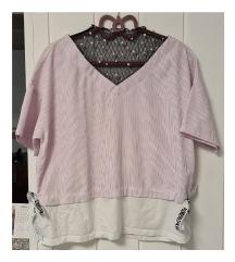 Prugasta majica s biserima