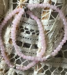 Narukvica roza srebro leptir