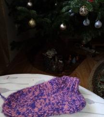 Ručno pletene vunene čarape