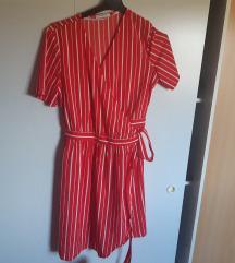 Asos crvena prugice haljina