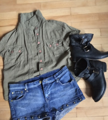 Lot hlače, košulja i čizmice
