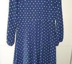 Plava haljina na točkice