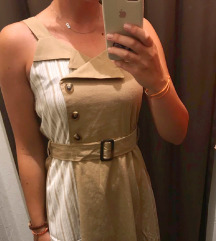 Blazer stil zanimljiva smeđa haljina midi