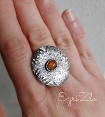 Fire opal u srebru