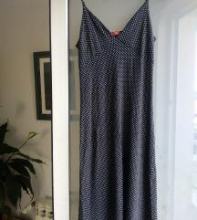 Haljina plava dugačka pin up vel. 36 / 38