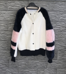 ZARA Faux for bomber jacket-M
