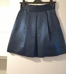 Zara metalik plava suknja