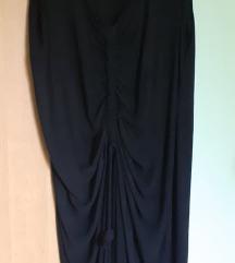 Haljina crna ,lanena, br.48/50