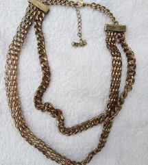 Metalna ogrlica boje starog zlata