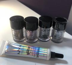 NYX glitter brillians + glitter primer