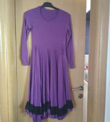 Pamučna haljina s čipkom