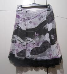 Crno-sivo-bijela suknjica