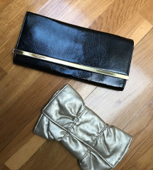 ACCESSORIZE torbica crna 🎁 ZLATNA