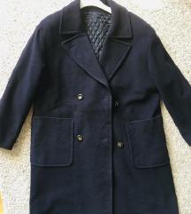 Maxi oversized dugi plavi kaput vel M-L