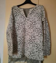 Čipkani asimetrični pulover