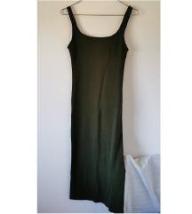 Bershka uska maslinasta haljina
