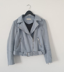 H&M baby plava brušena kožna jaknica SNIZENO