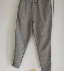 Sive hlače s bočnom crtom