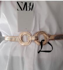 Zara zlatni elasticni remen