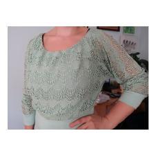 Majica zelena čipkasta veličina S/M