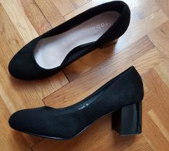 Crne blok peta cipele