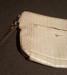 torbica pod ruku - svijetlo siva, kroki uzorak