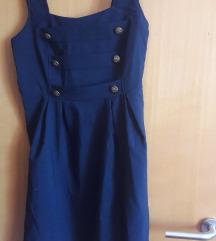 Tamnoplava ljetna haljina