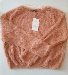 ZARA mekani roza  pulover NOVO 🎀