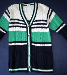 Pleteni prugasti pulover - %