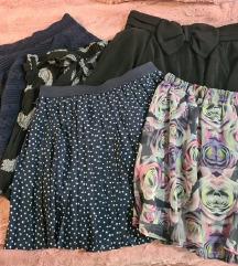 Lot 5 kratkih H&M suknjica-80 kn