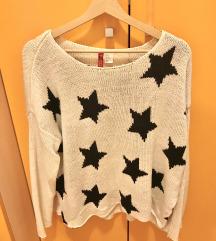 H&M Sweater na Zvijezdice M