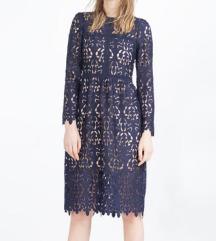 Zara čipkana haljina