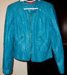 Nova tirkizna jakna - umjetna koža