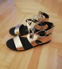 GULIVER rosegold kožne sandale