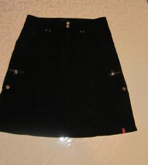 ESPRIT pamučna crna sportska suknja