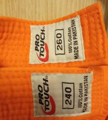 Pojas bijeli i narančasti za sport