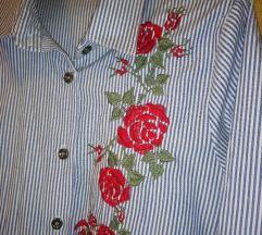 Košulja cvjetna, prugasta