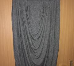 Kenzo siva drapirana suknja XL 42