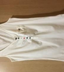 Bijela majica bez rukava